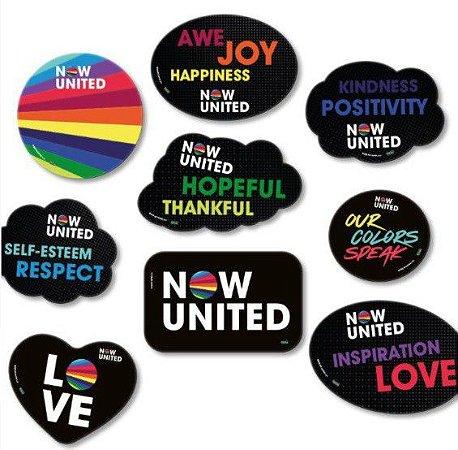 Kit Placas Decorativas Now United - 9 uni