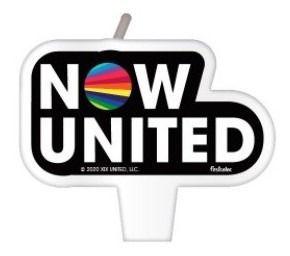Vela Plana Aniversário Now United - 1 Uni