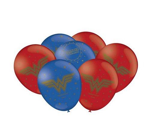 Balão Bexiga Mulher Maravilha 9  - 25uni