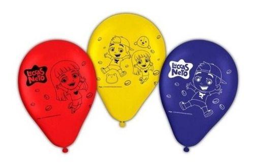 Balões Bexigas Luccas Neto - 25 Unidades - Regina