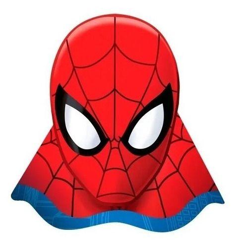 Chapéu De Aniversário Homem Aranha - 8 Uni