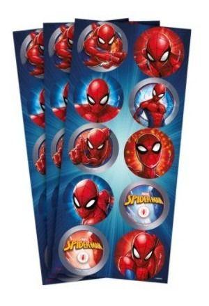 Adesivo Redondo Homem Aranha - 30uni