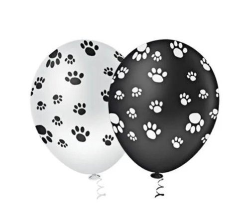 Balão Bexiga Patinhas Canina Sortido - 25unid - Pic Pic