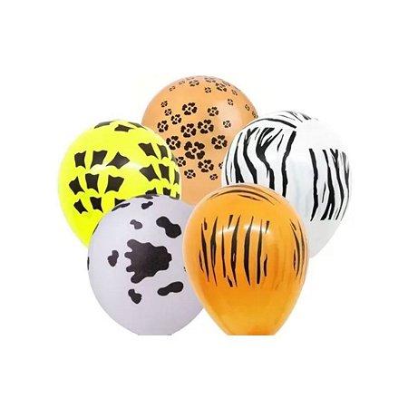 Balão Bexiga Safari Sortido - 25 unid