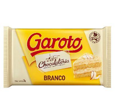 Chocolate Cobertura Branco Garoto 2.1kg
