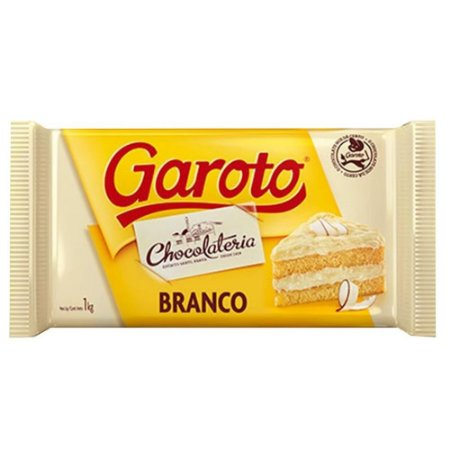 Chocolate Cobertura Garoto  Branco 1kg