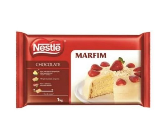 Cobertura Chocolate Nestle Branco  - Barra 1kg