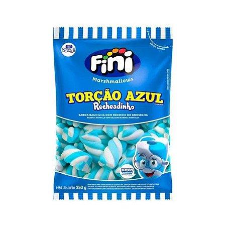 Marshmallow Recheadinho Torção Azul 250g - Fini