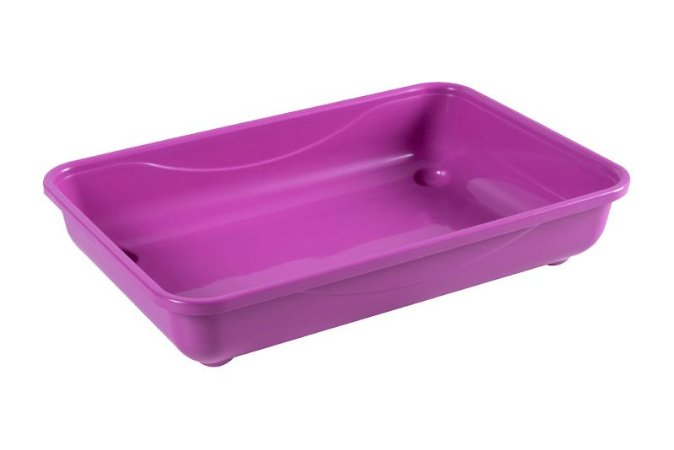 Caixa De Areia Para Gato Rosa 40x26x8cm Astra