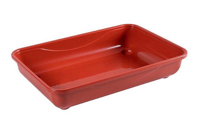 Caixa De Areia Para Gato Vermelho 40x26x8cm Astra