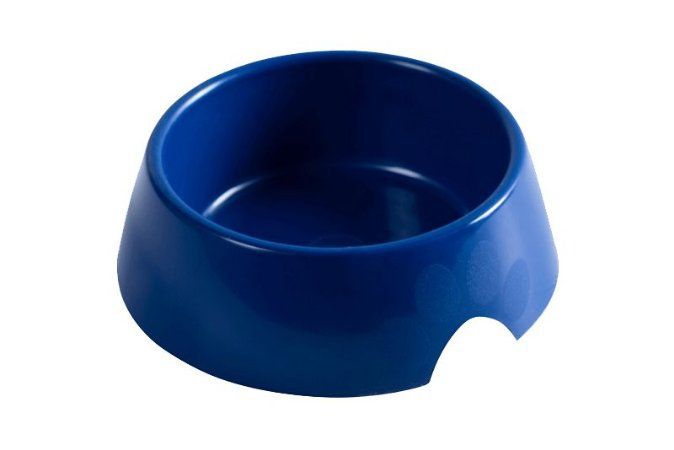 Comedouro Plástico 600ml Azul Astra