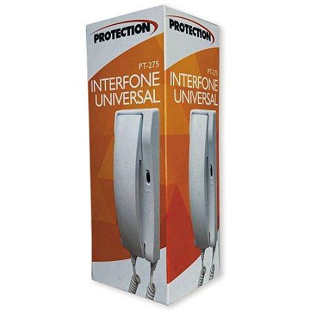 Interfone Extensão Universal Branco Para Porteiro PT-275 Protection