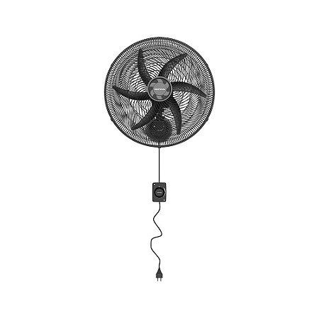 Ventilador de Parede Oscilante Preto 50CM Monta Fácil 220V Ventisol