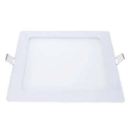 Painel De Led 12W De Embutir 6500K Branco Quadrado Bivolt Demi