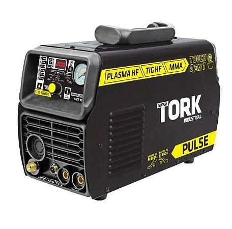 Inversor De Solda Plas Tig HF Pulse MMA Ipet 9050 220V Super Tork