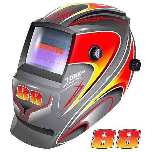 Máscara de Solda Super Tork MTR 9088 Racing Cinza Com Escurecimento Automático