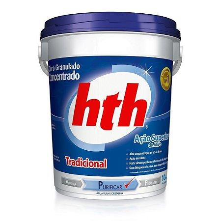 Cloro Granulado Concentrado HTH Tradicional Balde Com 10kg