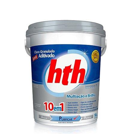 Cloro Granulado Aditivado HTH 10 em 1 Balde Com 10kg