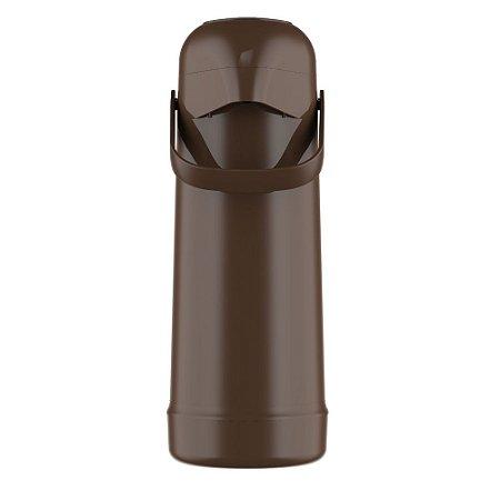 Garrafa Térmica Pressão Termolar Magic Pump 1L Marrom
