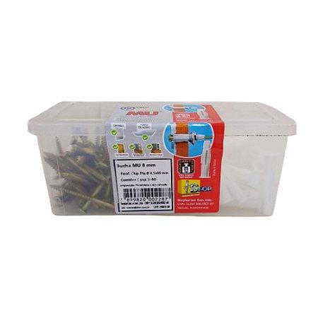 Bucha MU Plástica 8 Com Parafuso Chip PHS 4,0x60 60pçs Sfor