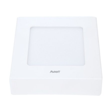 Painel Led de Sobrepor Quadrado 6W 6500K Luz Branca Bivolt Avant