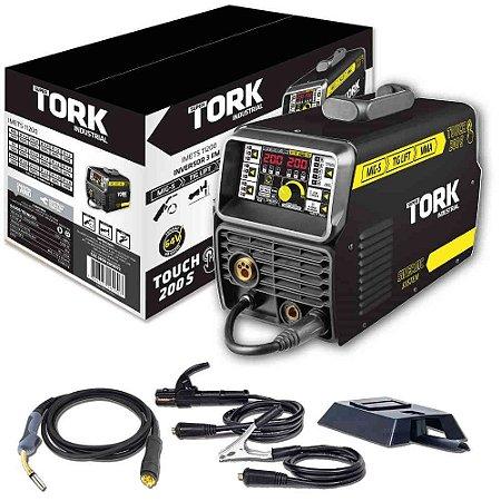 Inversor De Solda Touch 200S TIG Lift/MIG/MMA Eletrodo IMETS-11200 200A Super Tork 220V