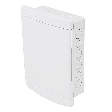 Quadro de Distribuição de Embutir 12/16 Disjuntores PVC Branca Tigre