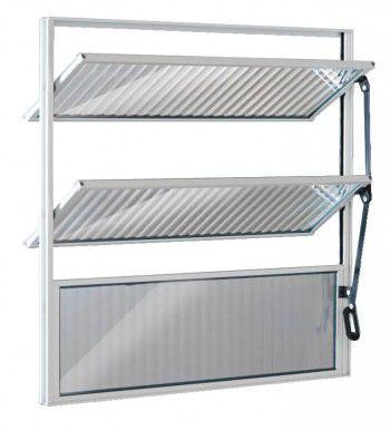 Vitro De Aluminio Basculante Ecosul 60x60cm Branco Esquadrisul