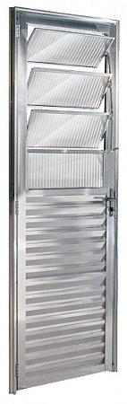 Porta De Aluminio Basculante Esquerda Ecosul 2,10x0,80cm Brilhante Esquadrisul