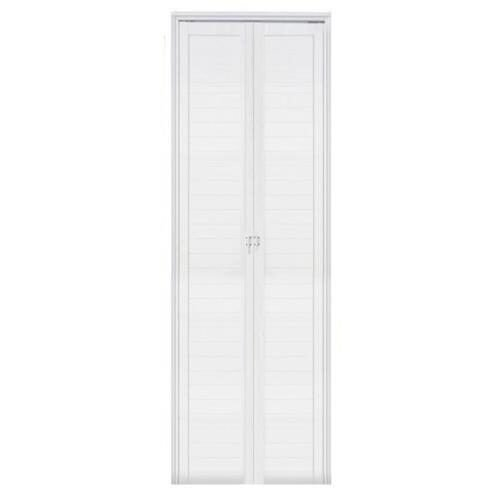 Porta De Aluminio Branca Lambril Camarao Direita 2,10X0,70cm Esquadrisul