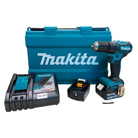 Parafusadeira e Furadeira de Impacto 18V à Bateria DHP483RFE Makita