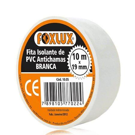 Fita Isolante 19MMx10MT Branca Foxlux
