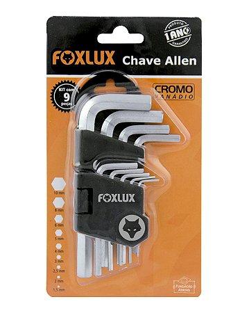 Jogo De Chave Allen 1,5 A 10MM 9 Peças Foxlux