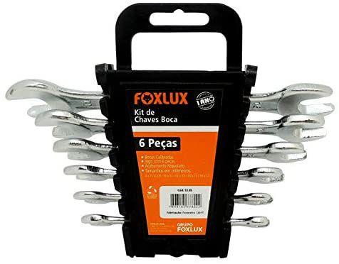 Kit De Chaves Boca 6 A 17MM Com 6 Peças Foxlux