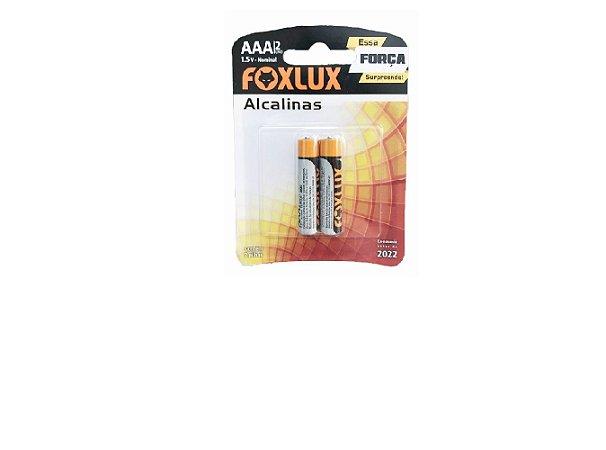 Pilha Alcalina Blister Com 2 Pilhas Foxlux