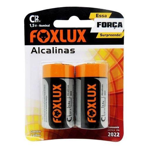 Pilha Alcalina Blister Com 2 Pilhas D Foxlux