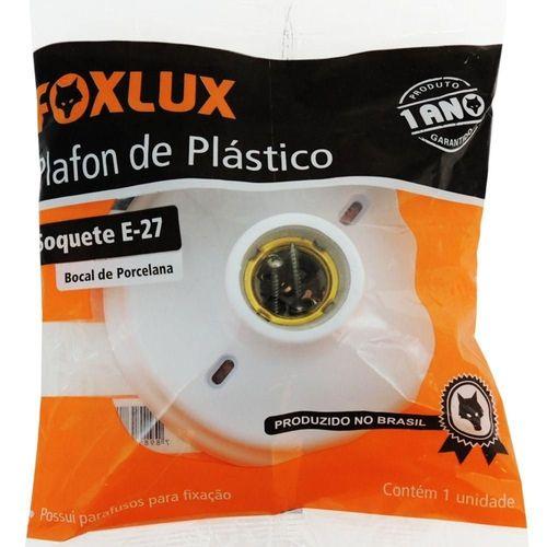 Soquete Porcelana Plafon Plastico E27 Foxlux