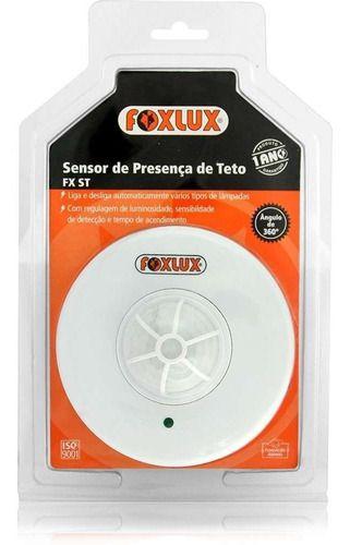 Sensor De Presença 360º Embutir 3x3 Teto Foxlux
