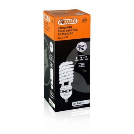 Lâmpada Fluorescente Compacta 85w 127V Branca Foxlux