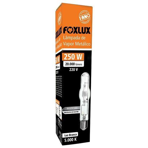 Lâmpada De Vapor Metálico Tubular 250w Foxlux