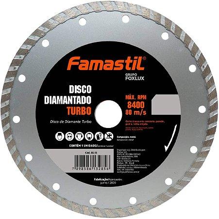 Disco Diamantado Liso Turbo 4.3/8'' Famastil
