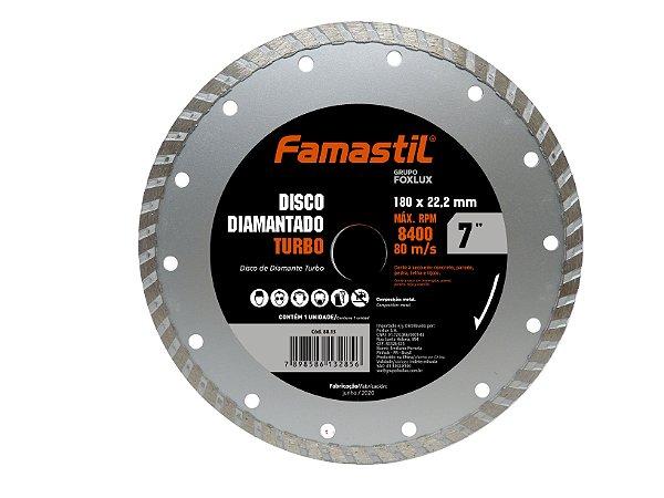Disco Diamantado Liso Turbo 7'' Famastil