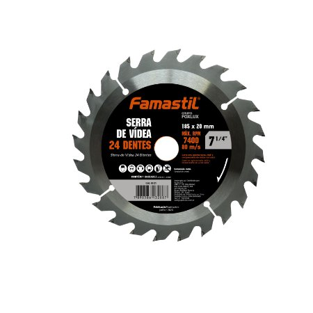 Disco De Flap 7.1/4 Com 24 Dentes Famastil