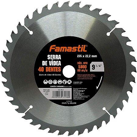 Disco De Flap 9.1/4 Com 40 Dentes Famastil