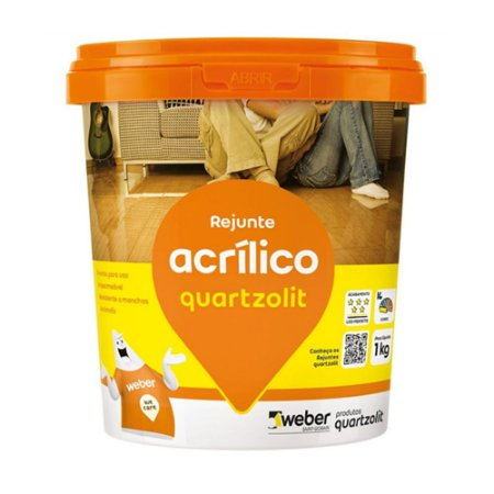Rejunte Acrílico Cinza Platina 1KG Quartzolit