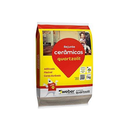 Rejunte Flexível  Marrom Tabaco 1kg Quartzolit