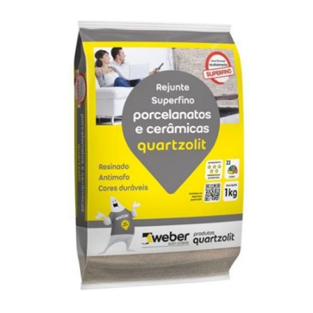 Rejunte Flexível Porcelanato 1KG Marrom Café Quartizolit