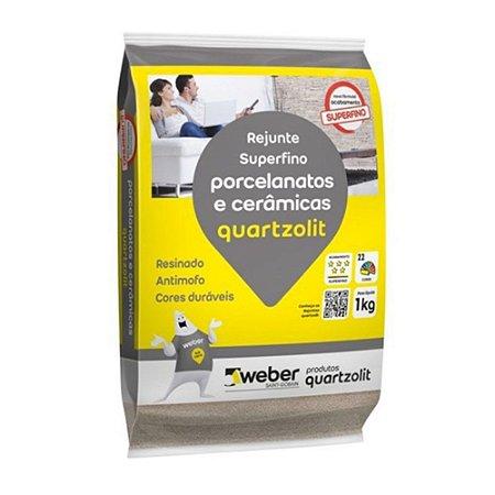 Rejunte Flexível Porcelanato 1KG Preto Grafite Quartizolit