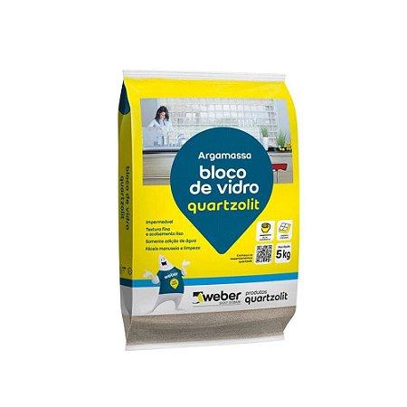 Argamassa Bloco De Vidro 5KG Quartzolit