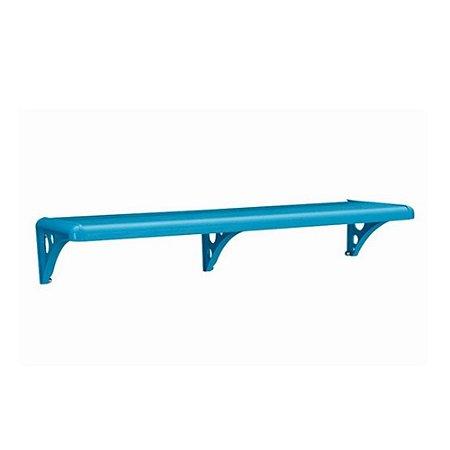 Prateleira Com Suporte De Plastica Azul 80x20 Astra